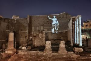 Proiezione su Foro di Augusto