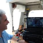 4 prima prova di trasmissione video offshore dal relitto di Caorle 1 a Udine