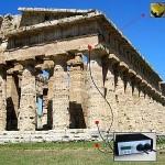 Paestum, tempio di Nettuno, posizionamento strumentazioni