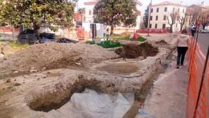 (ANSA) - CHIARAVALLE (AN), 31 MR -  Archeologia: scoperti resti romani di età pre-imperiale a Chiaravalle.  +++ NO SALES, EDITORIAL USE ONLY +++
