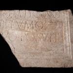 Brano di un'iscrizione dedicatoria